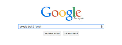 Google - Droit à l'oubli