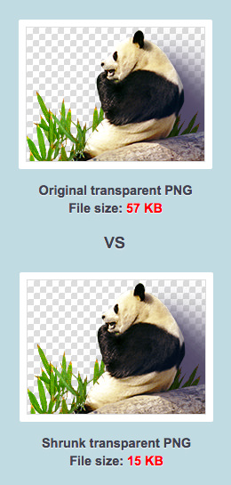 TinyPNG - Original vs Compressé
